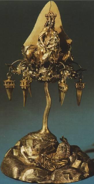 Родословное древо Христа, так называемое «Змеиное дерево». Вероятно Нюрнберг, около 1500 года. Серебро, акульи зубы