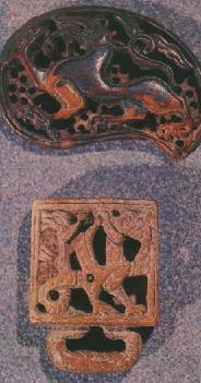 Костяные орнаментированные накладки